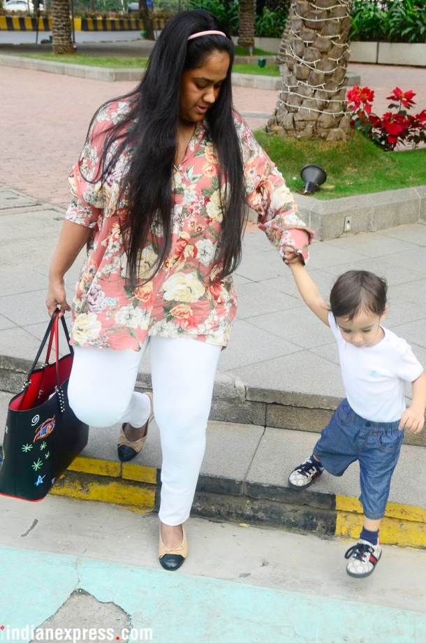 Salman Khan's sister Arpita was also seen hanging out with her son Ahil.