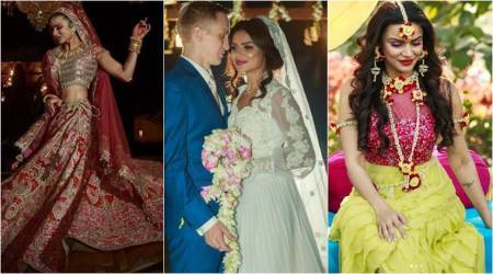 What Aashka Garodia wore at her wedding to Brent Goble.