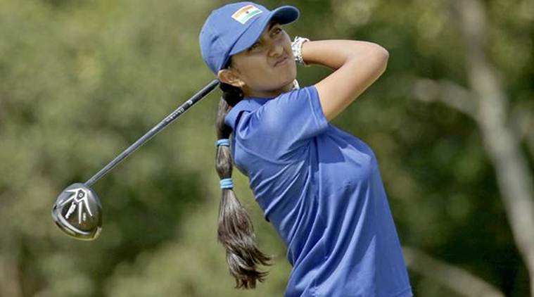 Aditi Ashok, Aditi Ashok India, India Aditi Ashok, Omega Dubai Ladies Classic, sports news, golf, Indian Express