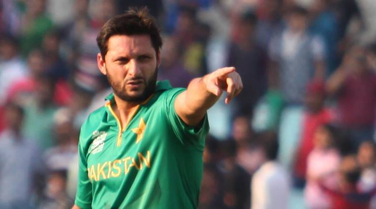 Shahid Afridi during the T20 World Cup in India