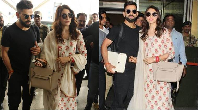 Anushka Sharma wedding dress Anushka Sharma fashion Anushka Sharma Virat Kohli airport