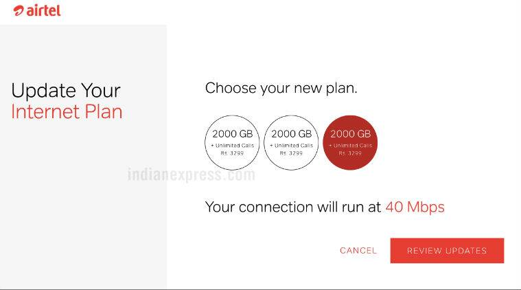 Airtel recharge offer broadband plans unlimited calling
