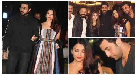 Aishwarya Rai parties with her real and reel life love – Abhishek Bachchan and Ranbir Kapoor, see photos