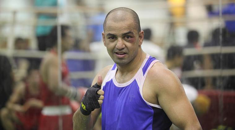 Boxer Akhil Kumar selected for Asian Games 2014 during selection trials at SAI NSNIS in Patiala on Wednesday