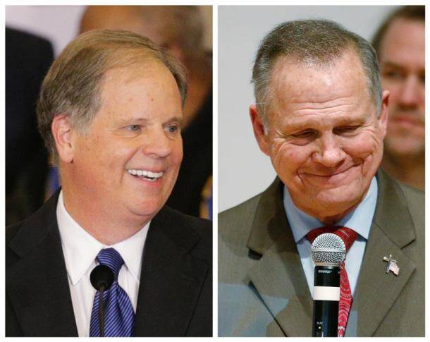 alabama senate election photos, roy moore images, doug jones photos pictures, republican supporters images, democrat supporters pictures, united states, donald turmp, us senate polls, alabama pictures, indian express