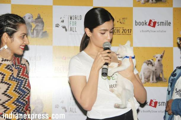 Alia Bhatt was present at the Adoptathon 2017.