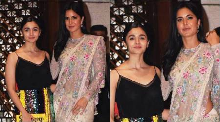 Alia Bhatt and Katrina Kaif show us beautiful ways to play with colours at the Ambani bash