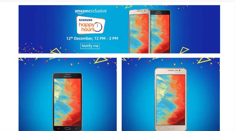 Samsung Happy Hours sale Amazon December 12 Samsung mobile discounts