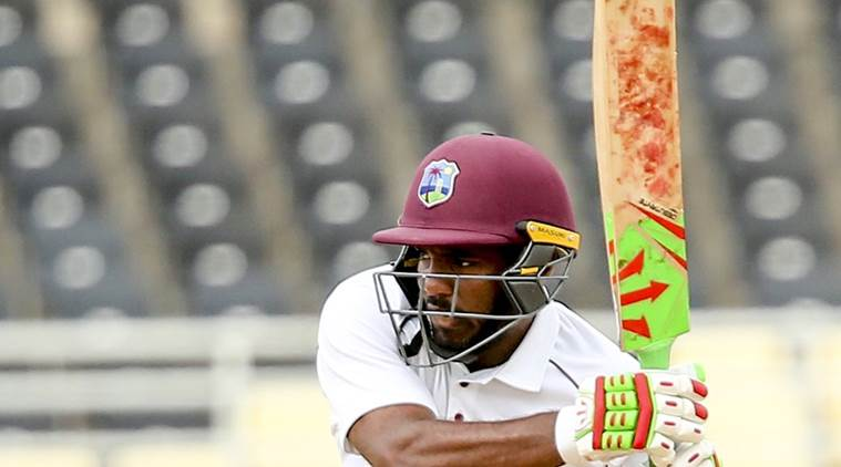 West Indies' Sunil Ambris
