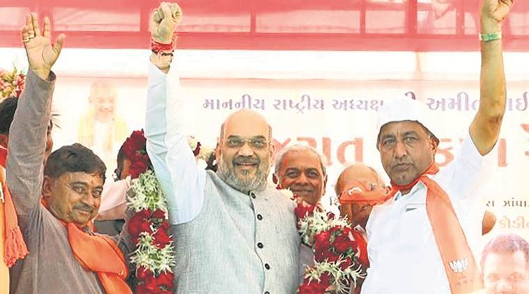amit shah, guajarat elections, rahul gandhi, narendra modi, vijay rupani, amit shah gujarat forecast, amit shah gujarat visit, indian express news