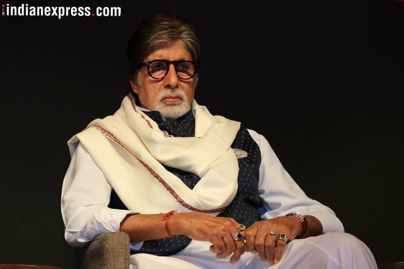 photos of amitabh bachchan from Thackeray poster release