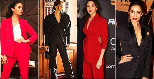 pantsuit styles, androgynous fashion, Sonam Kapoor, Sonam Kapoor latest photos, Sonam Kapoor fashion, Alia Bhatt, Alia Bhatt fashion, Sridevi fashion, Shilpa Shetty fashion, Jacqueline Fernandez fashion, Kangana Ranaut fashion, Malaika Arora fashion, indian express, indan express news