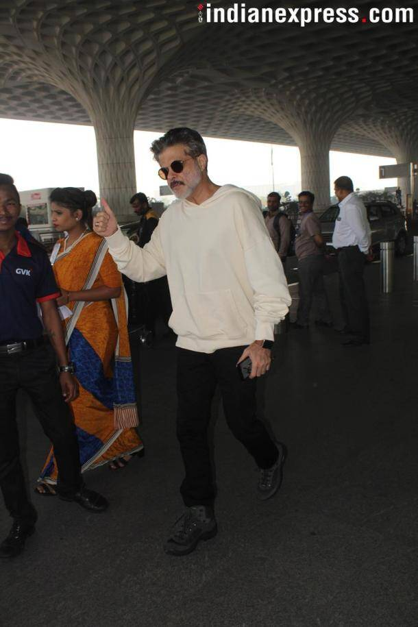 Anil kapoor at the airport
