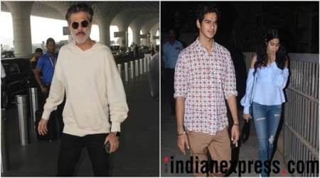 Anil kapor ishan khatter jahnvi kapoor spotted in the city