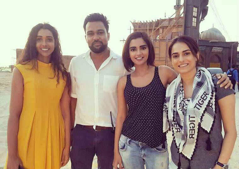 Anupriya Goenka on the sets of Tiger Zinda Hai.