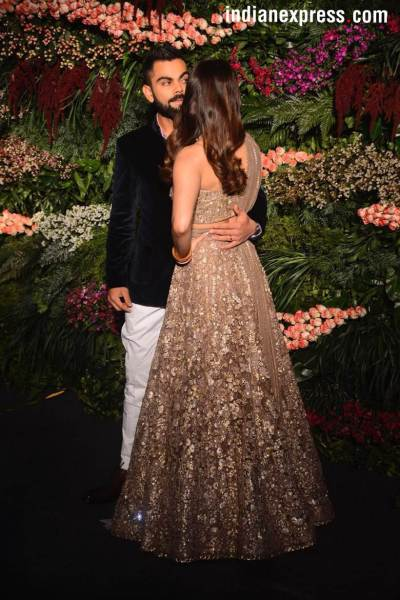 virat kohli anushka sharma wedding reception photos