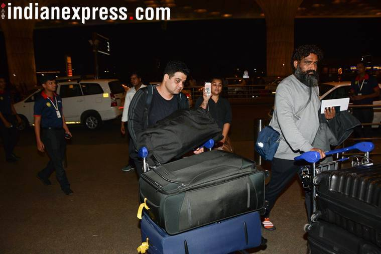 Anushka sharma brother spotted at airport