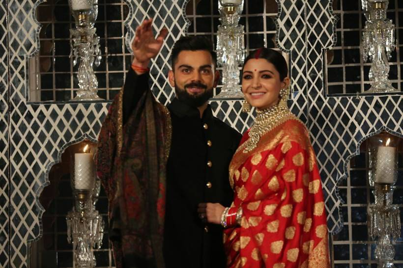Virat Kohli Bhangra dance at wedding reception