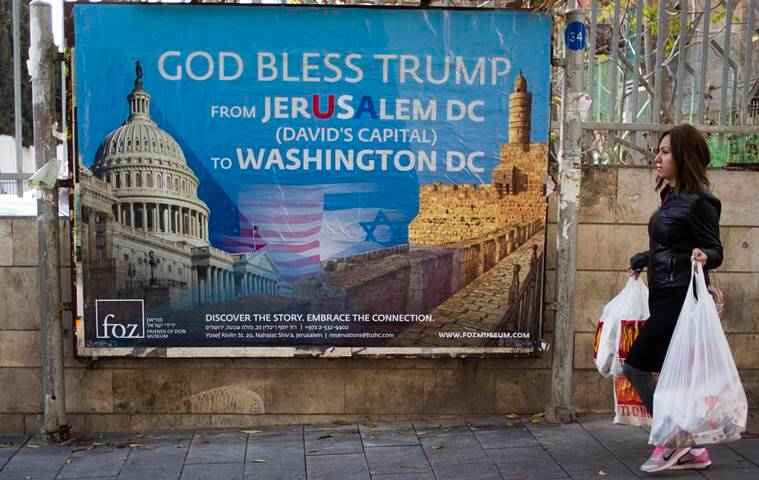 israel poster praising donald trump