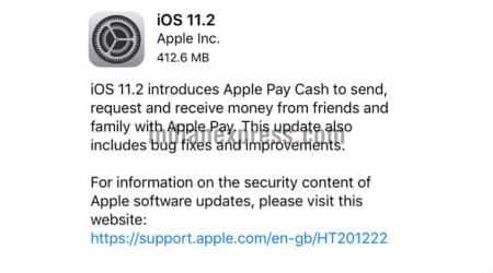 Apple iOS 11.2. iOS 11.2 update, December 2 date bug, Apple Pay Cash, iOS 11.2 how to download, Apple iOS date crash, iPhone, iPad