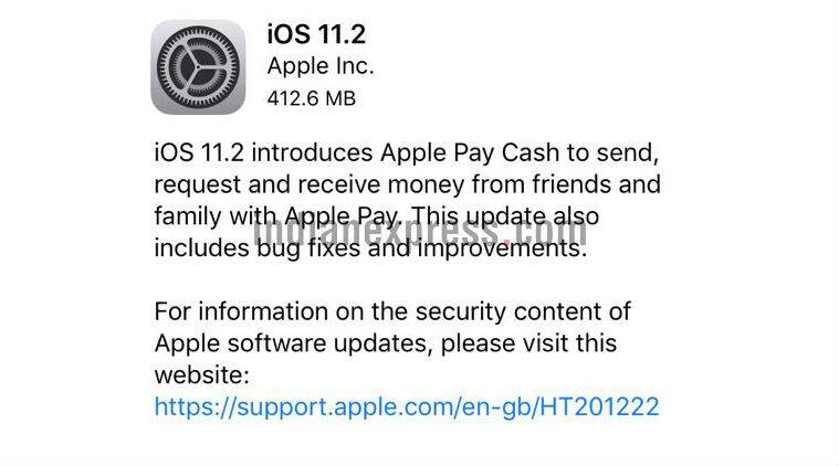 Apple releases iOS 11.2 with date crash bug fix, Apple Pay Cash, and faster wireless charging