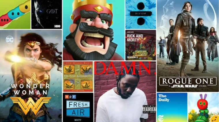 Apple reveals the most popular apps, movies and music of 2017