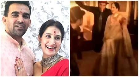 VIDEO: Ashish Nehra's dancing steps with bhabhi Sagarika Ghatge wins hearts