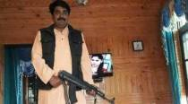 J-K: BJP leader Ashish Sareen poses with AK-47, Facebook picture makes party disownhim