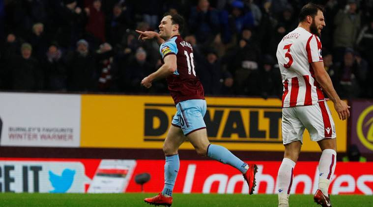 Burnley won 1-0 over Stoke City.