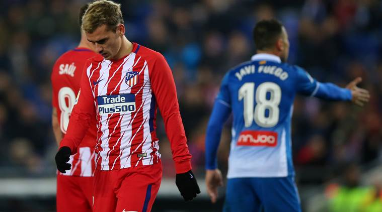Atletico's 20-game unbeaten run in La Liga ends at Espanyol