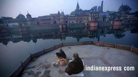 ayodhya, new ghat ayodhya, saryu river, uttar pradesh, indian express
