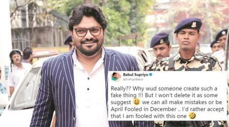 Babul Supriyo's 'April fool in December' moment after posting a fake forward gets Twitterati talking