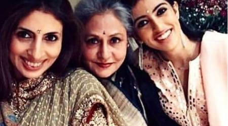 Amitabh Bachchan shares a throwback picture of Jaya Bachchan, Shweta Nanda and Navya Naveli