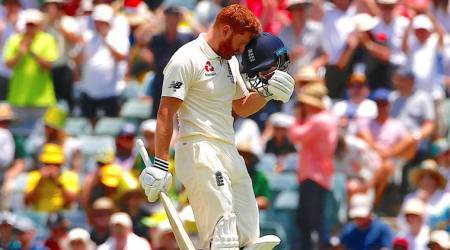 Ashes 2017: Jonny Bairstow celebrates ton with helmet headbutt