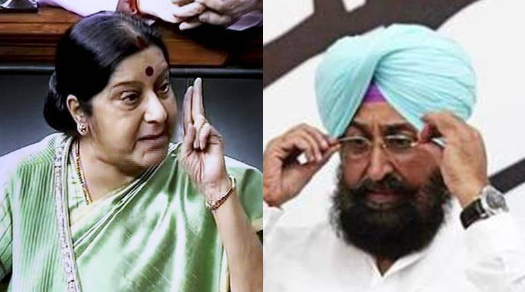 Congress mp 'blocked' for asking swaraj question on missing indians in iraq