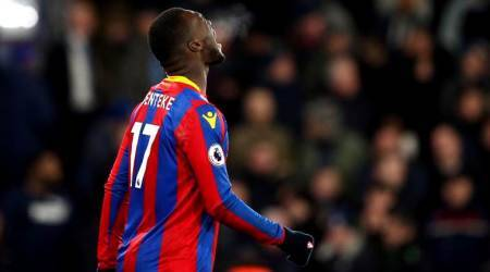 Christian Benteke rues his penalty miss