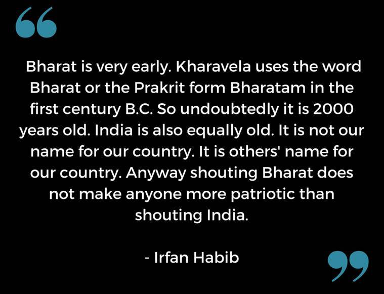 Irfan Habib on Bharat India