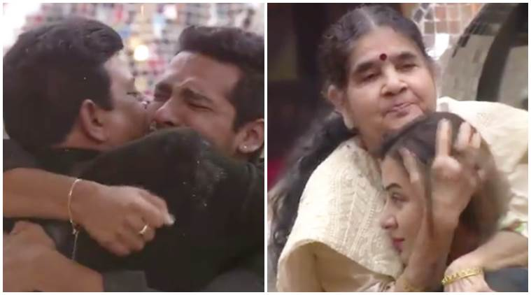 bigg boss 11 family visit videos