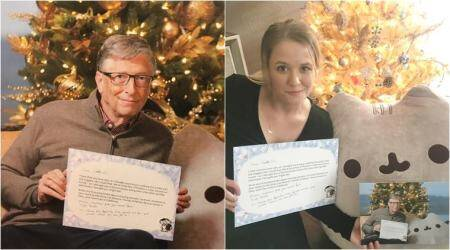 This woman found Bill Gates was her secret Santa and Christmas couldn't get any better!
