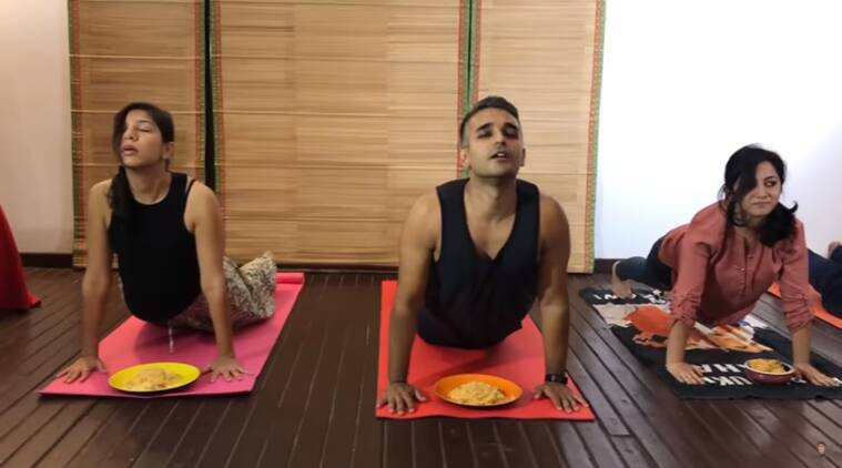 Yoga, biryani yoga, beer yoga, what is biryani yoga, how do to biryani yoga, funny videos