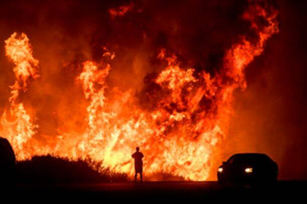 California Wildfires at the heart of Los Angeles
