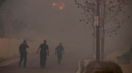 Weather eases the battle as California wildfiresgrow