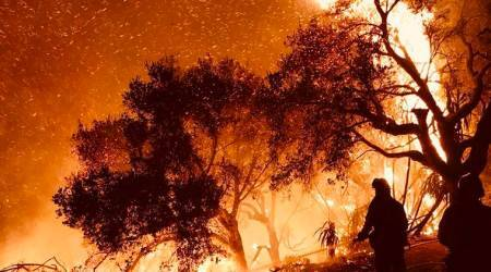 california wildfire, us forest fire, united states, new york city, san diego, santa barbara fire, ventura, america wildfire, us news, indian express