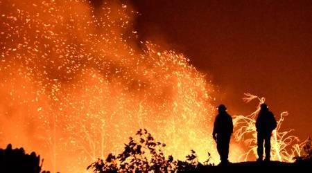 California winds fuel state's third-largestwildfire