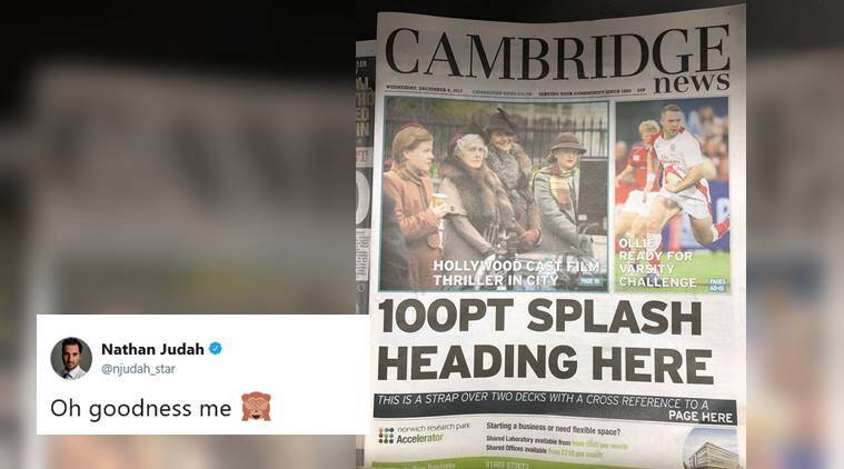 cambridge news, cambridge news headline, cambridge news frontpage, newspaper frontpage goof up, funny news, viral news, indian express