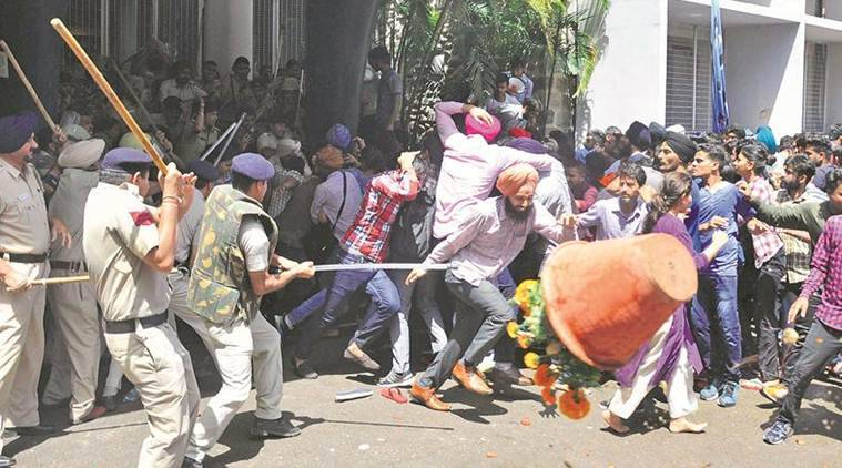 Chandigarh Criminal Incidents, Criminal Incidents Chandigarh, Panchkula Violence, Gurmeet Ram Rahim Singh Verdict, KJ Singh Murder, PU Violence, Chandigarh News, Indian Express, Indian Express News