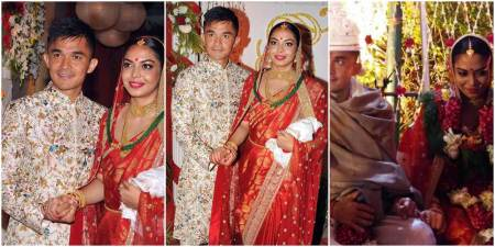 Sunil Chhetri, Sunil Chhetri India football, Sunil Chhetri wedding, Sunil Chhetri wedding pics, Sunil Chhetri wife, sports gallery, football, Indian Express