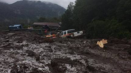 Mudslide in southern Chile kills five, at least 15 missing