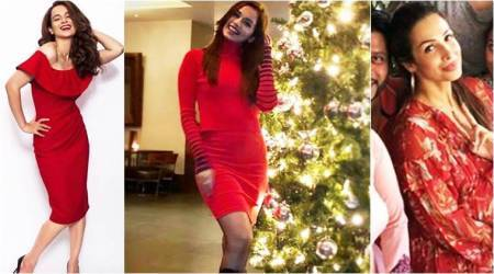 Manushi Chhillar, Kangana Ranaut, Malaika Arora: How Bollywood celebs celebrated Christmas in red