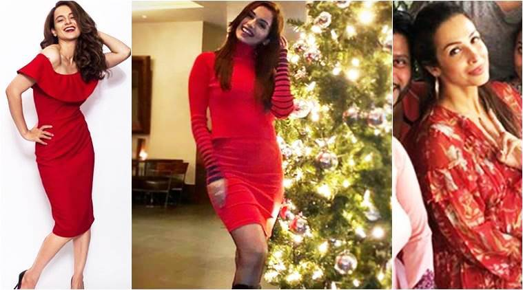 Christmas fashion celebs, Manushi Chhillar, Manushi Chhillar latest photos, Manushi Chhillar fashion, Kangana Ranaut, Kangana Ranaut latest photos, Kangana Ranaut christmas fashion, Malaika Arora, Malaika Arora latest photos, Malaika Arora christmas fashion